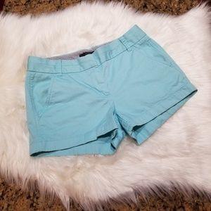 J. Crew Chino Blue Shorts Size 2
